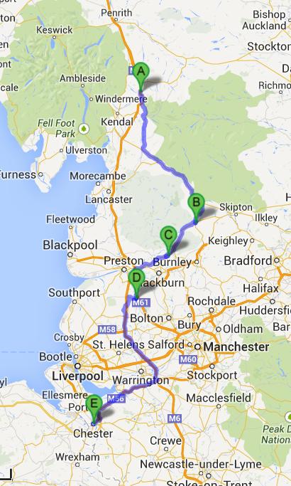 Lancashire map